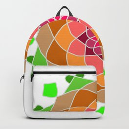 Multicolor esoteric petal mandala Backpack