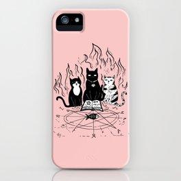 Cats doing magic iPhone Case