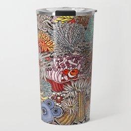 Clown fish and Sea anemones Travel Mug