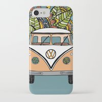 vw bus iPhone & iPod Cases featuring VW bus by Woosah