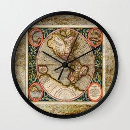 Western Hemisphere Michael Mercator America Wall Clock