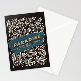 Paradise Found – Charcoal Palette Stationery Cards