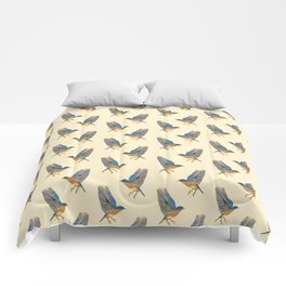 Country Bluebird Pattern Comforters
