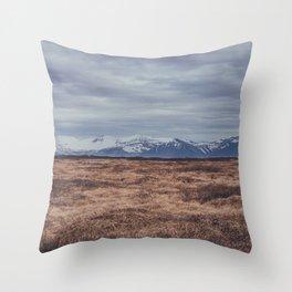 mountains of iceland Throw Pillow