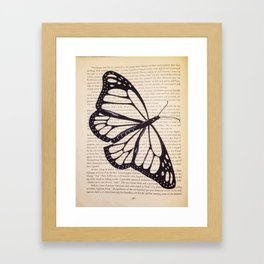 Butterfly in a Book Framed Art Print