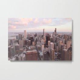 Downtown Chicago Skyline, Fine Art Photography Metal Print