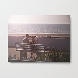 Love is enjoying summer Metal Print