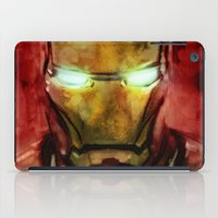 iron man iPad Cases featuring Iron Man by SachsIllustration