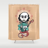 shakespeare Shower Curtains featuring Shakespeare Holy Writer by roberto lanznaster