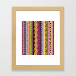 Fancy stripes Framed Art Print