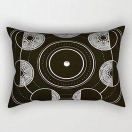 Mandala Moon Circle Rectangular Pillow