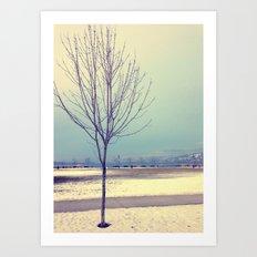 Okanagan Winter Blues Art Print