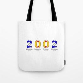 2002 - NAVY - My Year of Birth Tote Bag