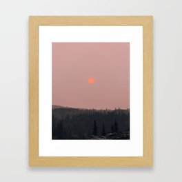 Neon Sun in Glacier National Park Framed Art Print