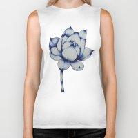 lotus flower Biker Tanks featuring Lotus by Lily Sayang
