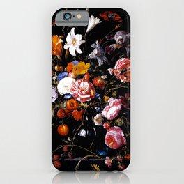 Jan Davidsz ''Vase with Flowers.'' iPhone Case