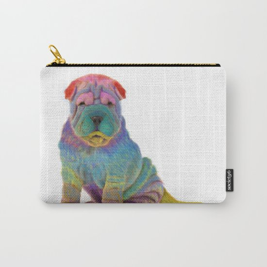 Colorful Sharpei Carry-All Pouch