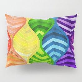 Rainbow Ribbon Pattern Pillow Sham