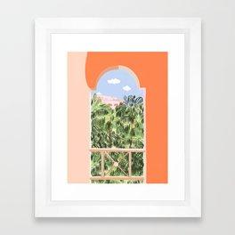 Summer Travel #illustration #tropical Framed Art Print