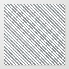 diagonal stripes - gray Canvas Print