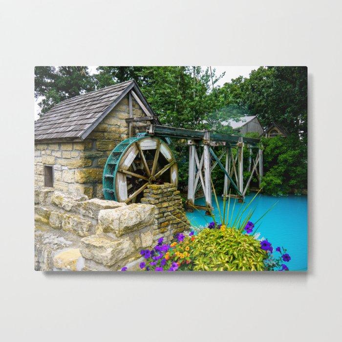 Water Wheel at the Village Metal Print