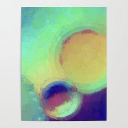 Colorful Abstract Painting Poster