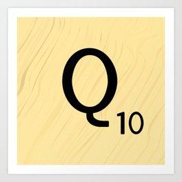 Scrabble Q - Large Scrabble Tile Letter Art Print
