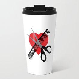scissors & comb & heart Travel Mug