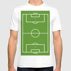 Football field fun design soccer field White Mens Fitted Tee MEDIUM