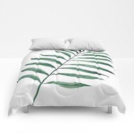 Tropical Greenery - Palm Tree Leaf Comforters