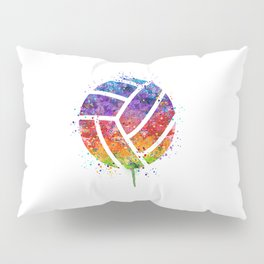Volleyball Ball Colorful Watercolor Art Sports Gift Pillow Sham