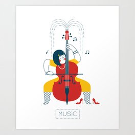 Cellist Art Print