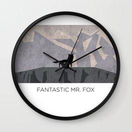Minimalist Fantastic Mr. Fox Wall Clock
