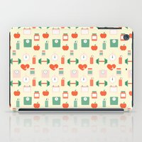 fitness iPad Cases featuring Fitness pattern by Xinnie and RAE