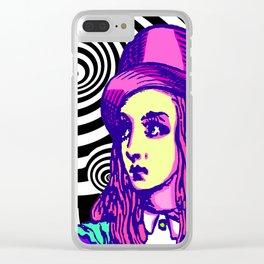 Purple Alice Vortex Clear iPhone Case