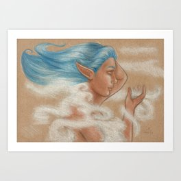 The Wind Goddess Art Print