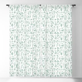 Aromatic herbs Blackout Curtain