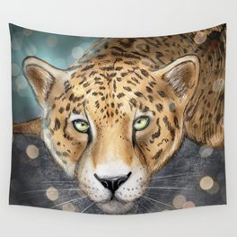 Snow, Leopard Wall Tapestry