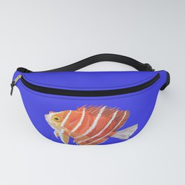 Watercolor Striped Angelfish  Fanny Pack
