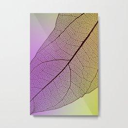 abstract transparent purple yellow leaf hoja amarilla púrpura transparente abstracta Metal Print
