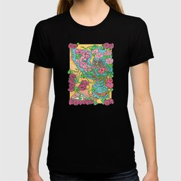 An Owl in Mourning Glory T-shirt