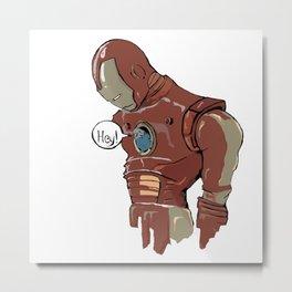 Iron-man and the Bird Metal Print