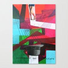 Ceci n´est pas un collage Canvas Print