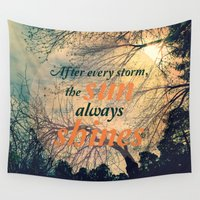 sunshine Wall Tapestries featuring Sunshine by Graphic Tabby