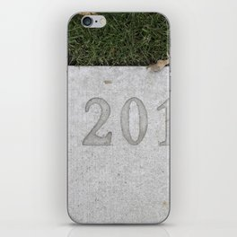 Granville Island sidewalk stamp 2013 iPhone Skin