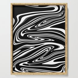 Stripes, distorted 4 Serving Tray