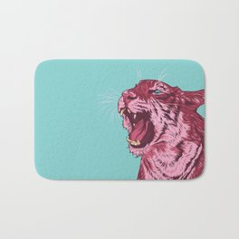 Magenta tiger Bath Mat