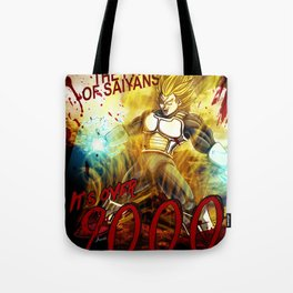 Vegeta Over 9000! Tote Bag