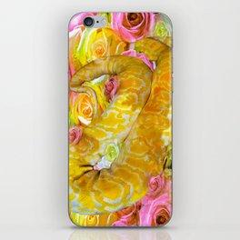 PYTHON SNAKE ROSES AND DANGER iPhone Skin