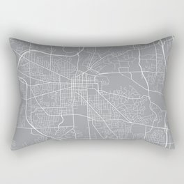 Ann Arbor Map, Michigan USA - Pewter Rectangular Pillow